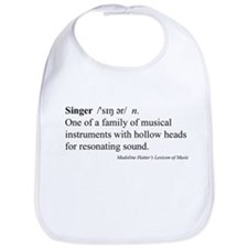 Humorous Singer Definition Bib