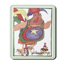 Unicycle Chicken Mousepad