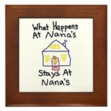 Nana's House Framed Tile