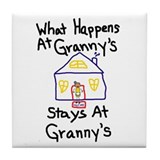 Granny's House Tile Coaster