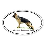 GSD Blk Tan -Oval Decal