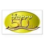 50th Anniversary Rectangle Sticker