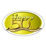 50th Anniversary Oval Sticker