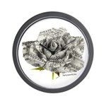 Musical Rose Wall Clock