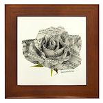 Musical Rose Framed Tile