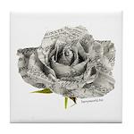 Musical Rose Tile Coaster