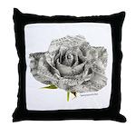 Musical Rose Throw Pillow