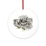 Musical Rose Ornament (Round)