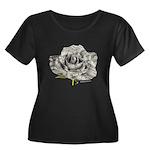 Musical Rose Women's Plus Size Scoop Neck Dark T-S