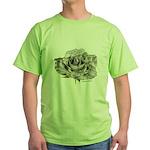 Musical Rose Green T-Shirt