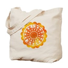 Orange Tie Dye Tote Bag