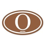 Obama Brown Euro Oval Sticker