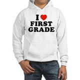 I Heart/Love First Grade Jumper Hoody