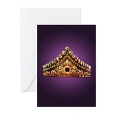 Unique Antique crown Greeting Cards (Pk of 10)