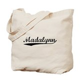 Vintage Madalynn (Black) Tote Bag