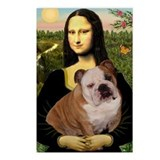 Mona Lisa &amp; English Bulldog Postcards (Package of