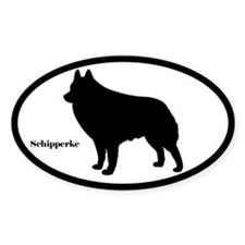 Schipperke Silhouette Sticker (Euro-Style)