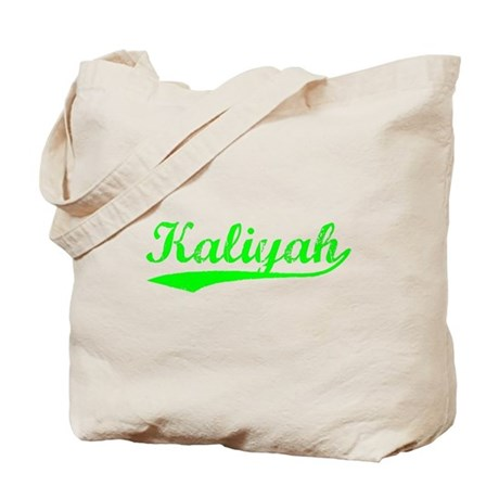 Vintage Kaliyah (Green) Tote Bag