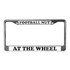 Football Nut License Plate Frame