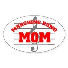 Marching Band Mom Oval Decal
