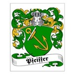 Pfeiffer Family Crest Small Poster