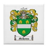 McKenna Family Crest Tile Coaster