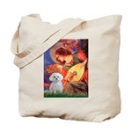 Mandolin Angel / Maltese Tote Bag