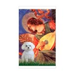 Mandolin Angel / Maltese Rectangle Sticker