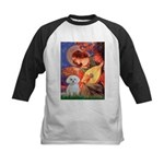 Mandolin Angel / Maltese Kids Baseball Jersey