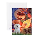 Mandolin Angel / Maltese Greeting Cards (Pk of 20)