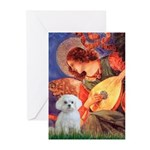 Mandolin Angel / Maltese Greeting Cards (Pk of 10)