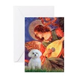Mandolin Angel / Maltese Greeting Card