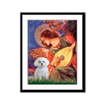 Mandolin Angel / Maltese Framed Panel Print