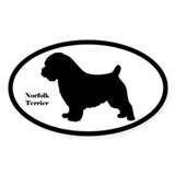 Norfolk Terrier Silhouette Sticker (Euro-Style)