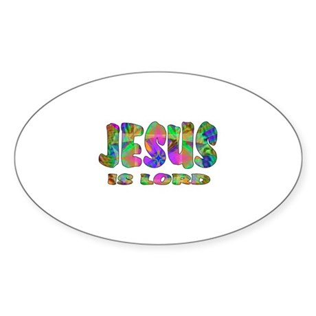 Jesus is Lord Oval Sticker