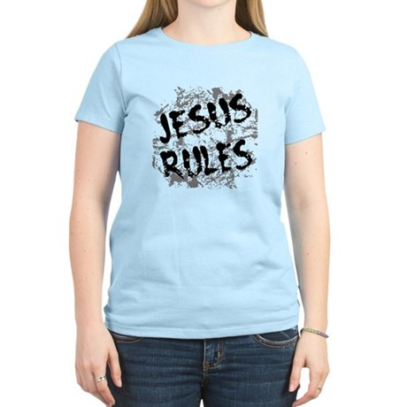 Jesus Rules Women's Light T-Shirt