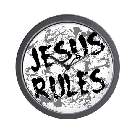 Jesus Rules Wall Clock