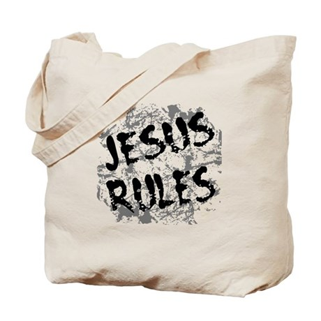 Jesus Rules Tote Bag