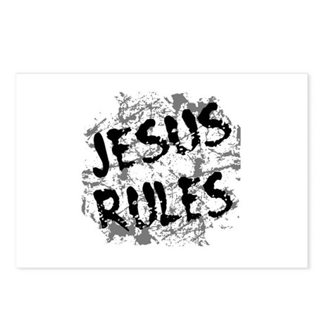 Jesus Rules Postcards (Package of 8)