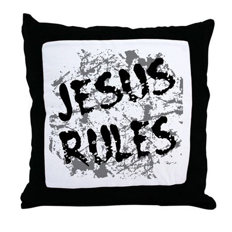Jesus Rules Throw Pillow