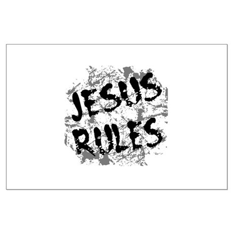 Jesus Rules Large Poster