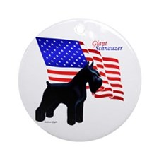 giant standing, flag behind Keepsake (Round)