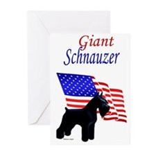 giant standing, flag behind Greeting Cards (Packag