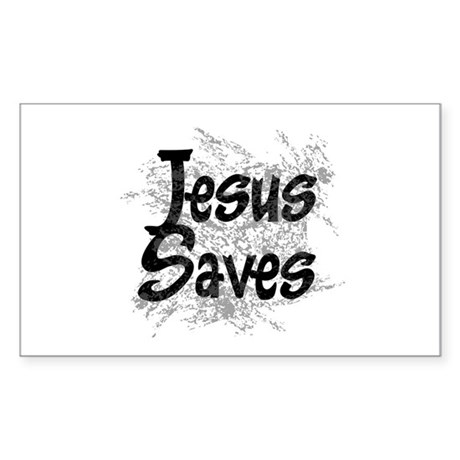 Jesus Saves Rectangle Sticker 50 pk)