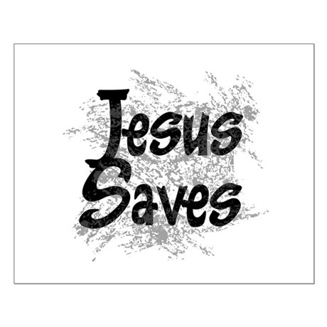 Jesus Saves Small Poster