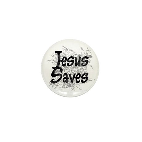 Jesus Saves Mini Button (100 pack)