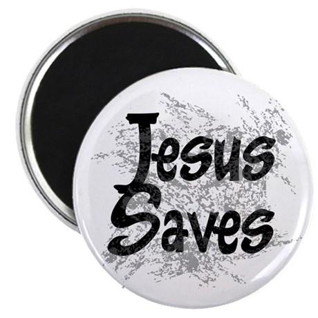 "Jesus Saves 2.25"" Magnet (10 pack)"
