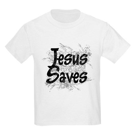 Jesus Saves Kids Light T-Shirt