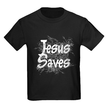 Jesus Saves Kids Dark T-Shirt