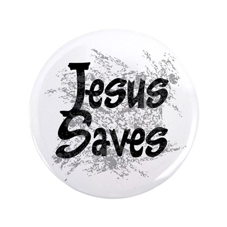 "Jesus Saves 3.5"" Button (100 pack)"